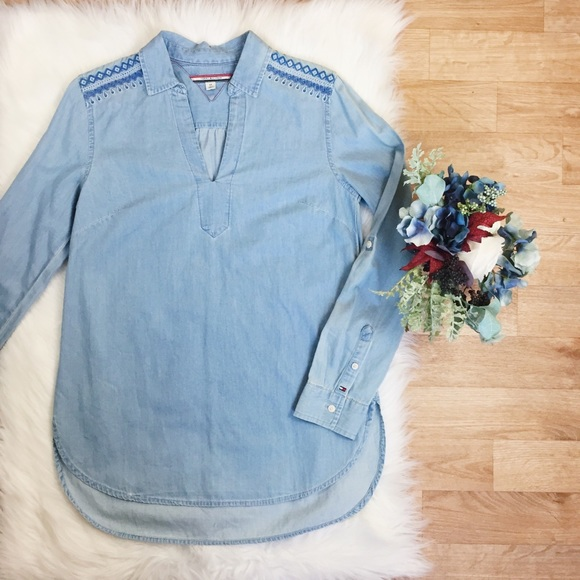 902e15c4220 Tommy Hilfiger Denim Long Sleeve Shirt Embroidery.  M 5ad80893b7f72b47171c0c8b